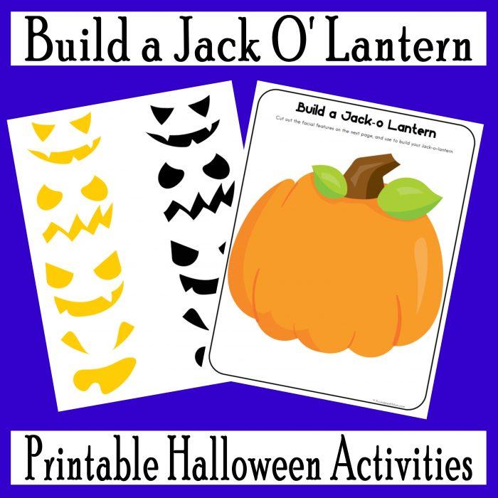 Jack O' Lantern Halloween Fun Pack free printables
