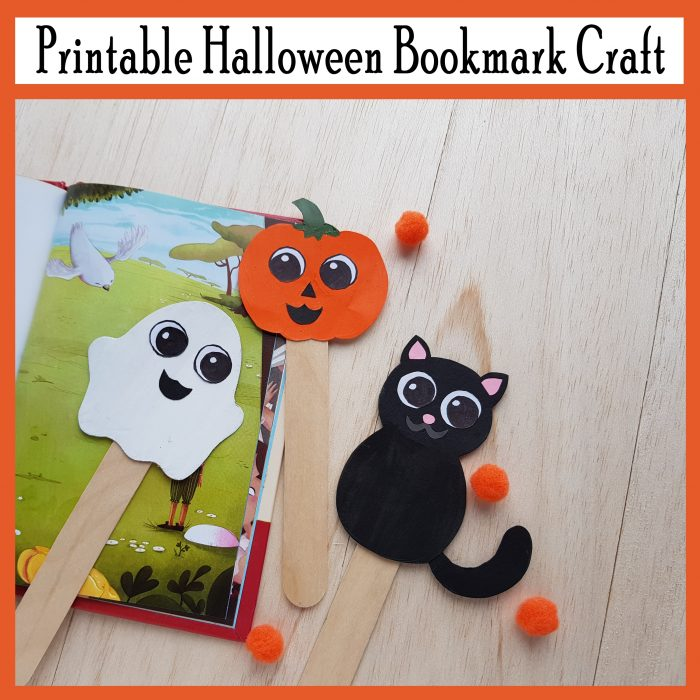 Cute Halloween Character Bookmarks Printable Craft