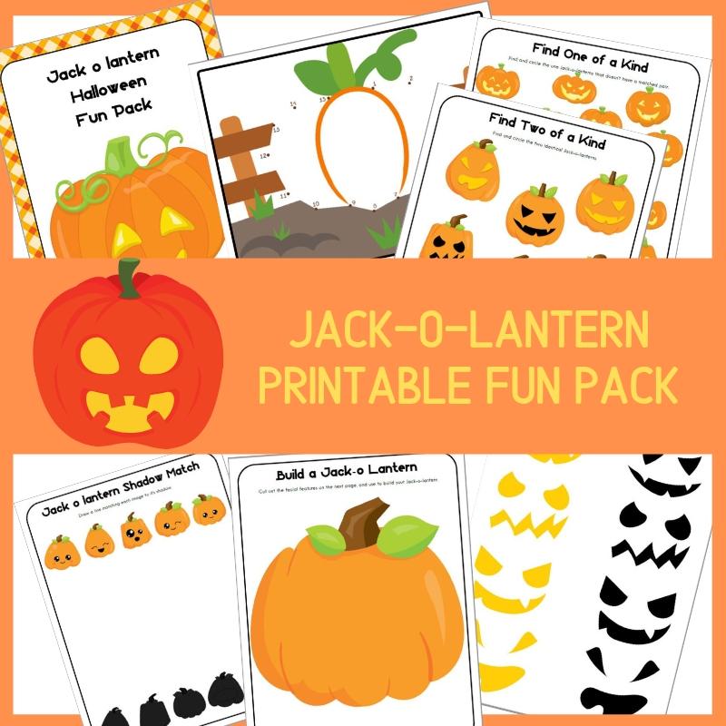 Jack O' Lantern Halloween Fun Pack