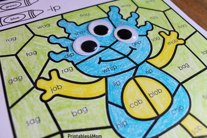 Monster Sight Word Coloring Book -  Activity Workbook