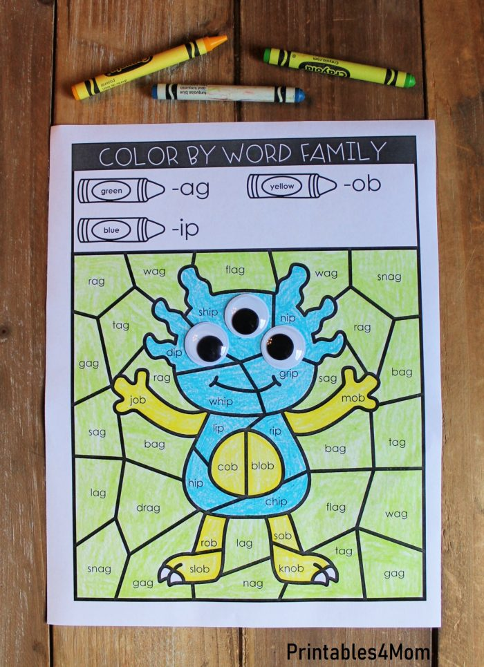 Monster Sight Word Coloring Book 5 Free Pages