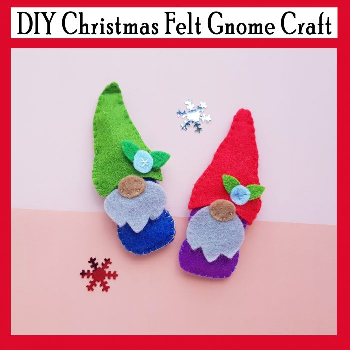 DIY Christmas Felt Gnome Craft Printable Template