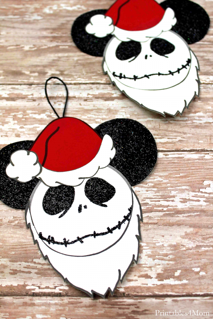 Jack Santa Mickey Ornaments Free Printable Craft