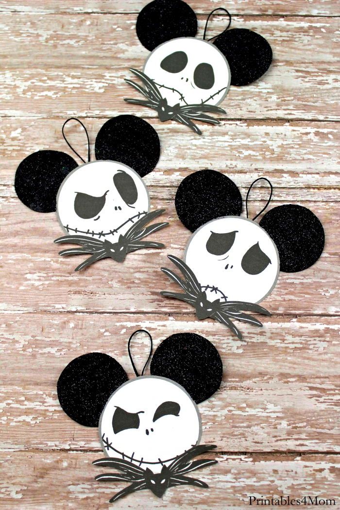 Jack Skeleton Mickey Emotions Ornaments Christmas Craft