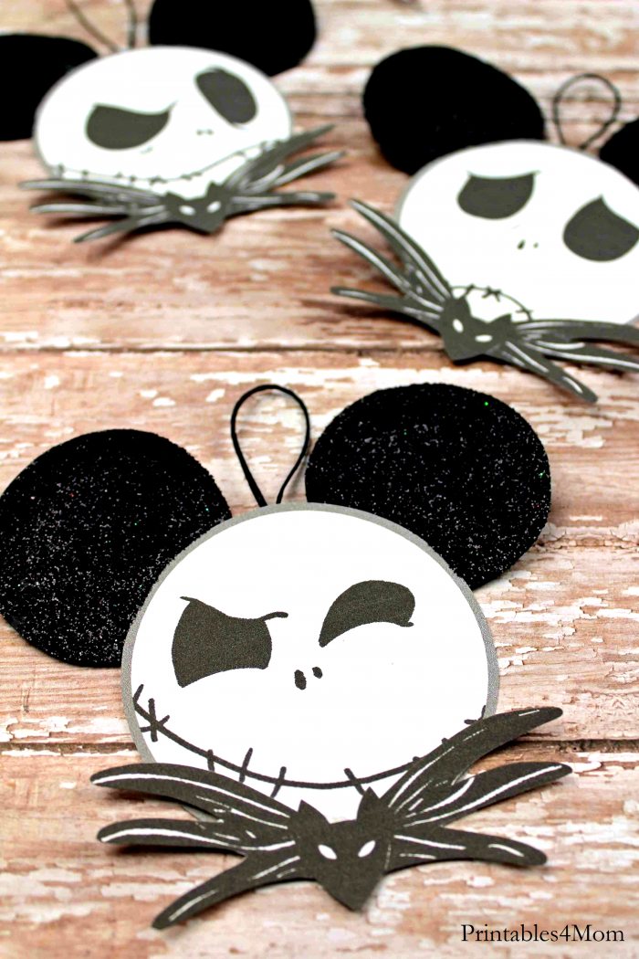 Jack Skeleton Mickey Emotions Ornaments Free Printable Craft