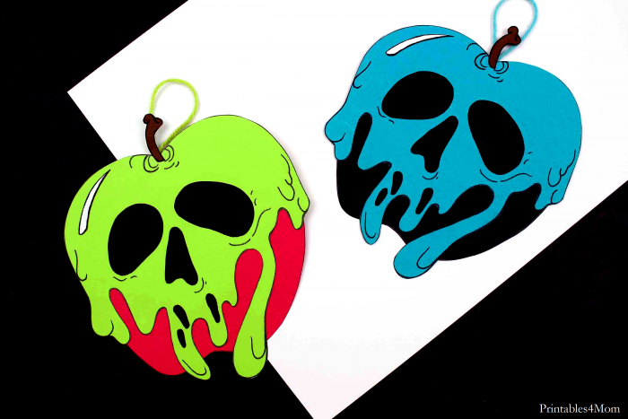 Poison Apple Ornament Craft Free Printable Christmas Craft