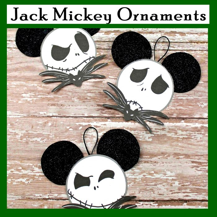 Jack Skeleton Mickey Ornaments for Christmas