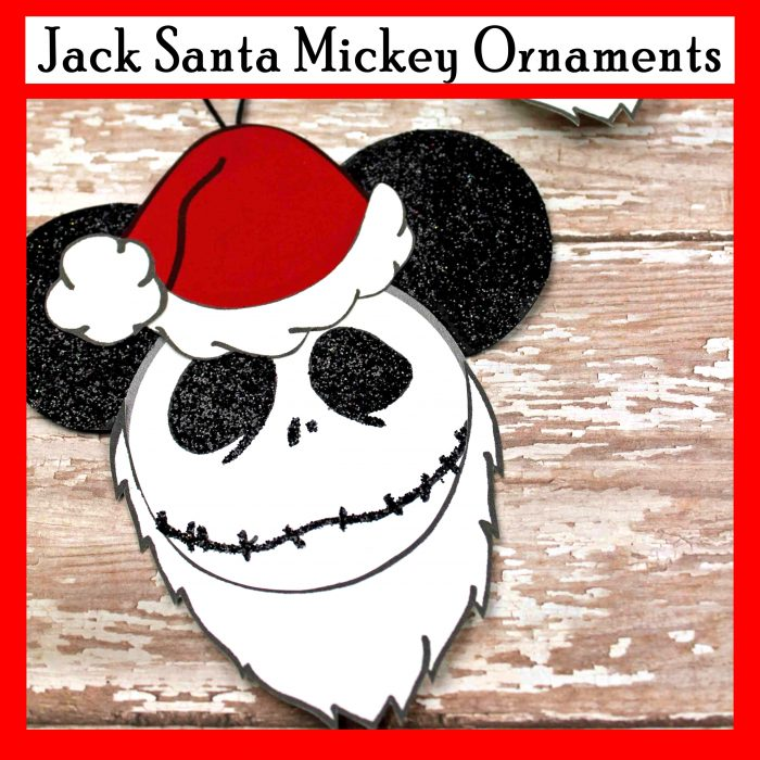 Jack Santa Mickey Ornaments Disney Christmas Ornaments