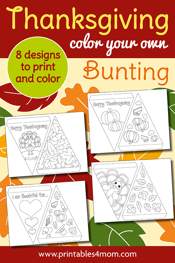 DIY Thanksgiving Banner Printable Fall Activity