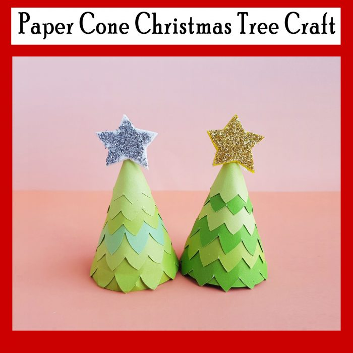Paper Cone Christmas Tree Craft Free Printable Template