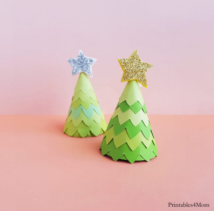 Paper Cone Christmas Tree Craft Kids Easy Craft