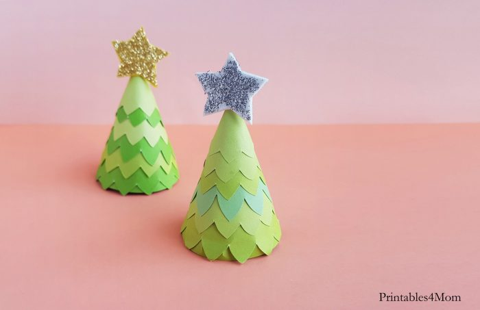 Paper Cone Christmas Tree Craft DIY Kids activity