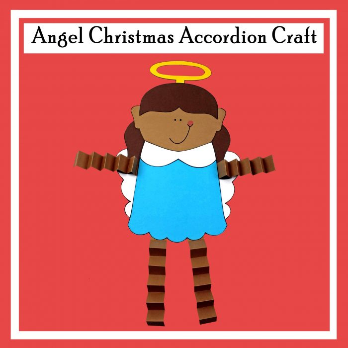 Angel Christmas Accordion Craft