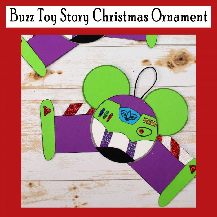 Buzz Toy Story Christmas Ornament Free Printable DIY Craft