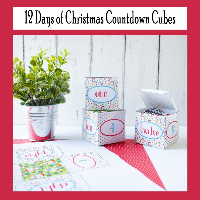 12 Days of Christmas Countdown Cubes
