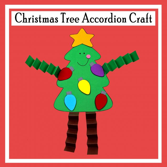 Christmas Tree Accordion Craft