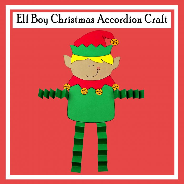 Elf Boy Christmas Accordion Craft