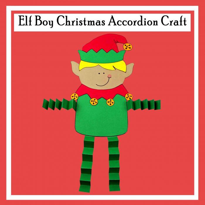 Elf Boy Christmas Accordion Craft