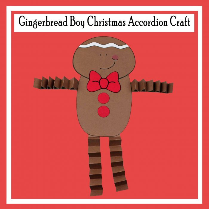 Gingerbread Boy Christmas Accordion Craft