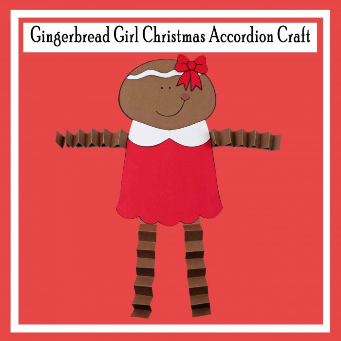 Gingerbread Girl Christmas Accordion Craft