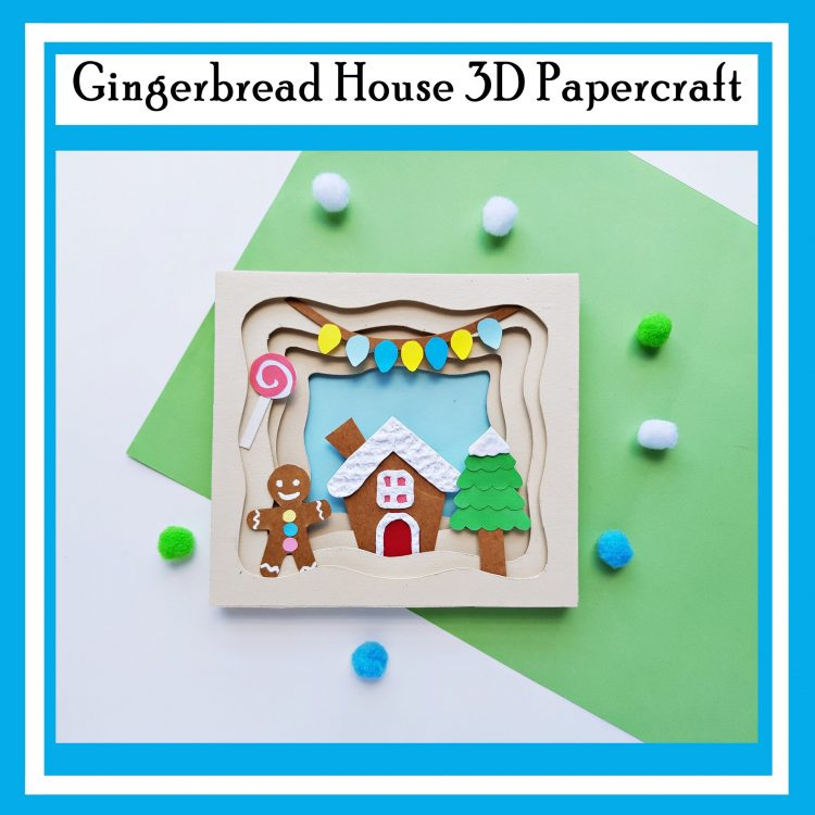 Gingerbread House 3D Papercraft Printable Christmas Craft