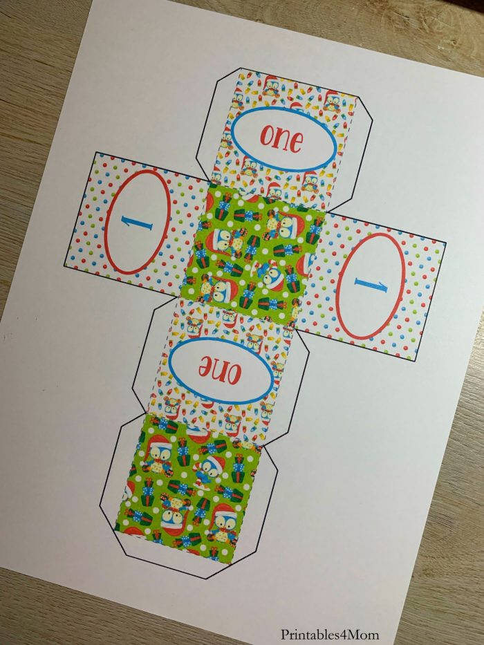 12 Days of Christmas Countdown Cubes Free Printables