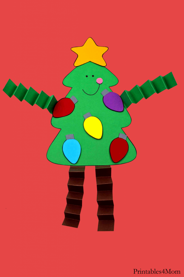 Christmas Tree Accordion Craft Easy Kids Craft