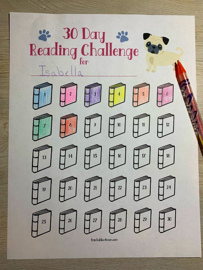 30 Day Reading Challenge Printable