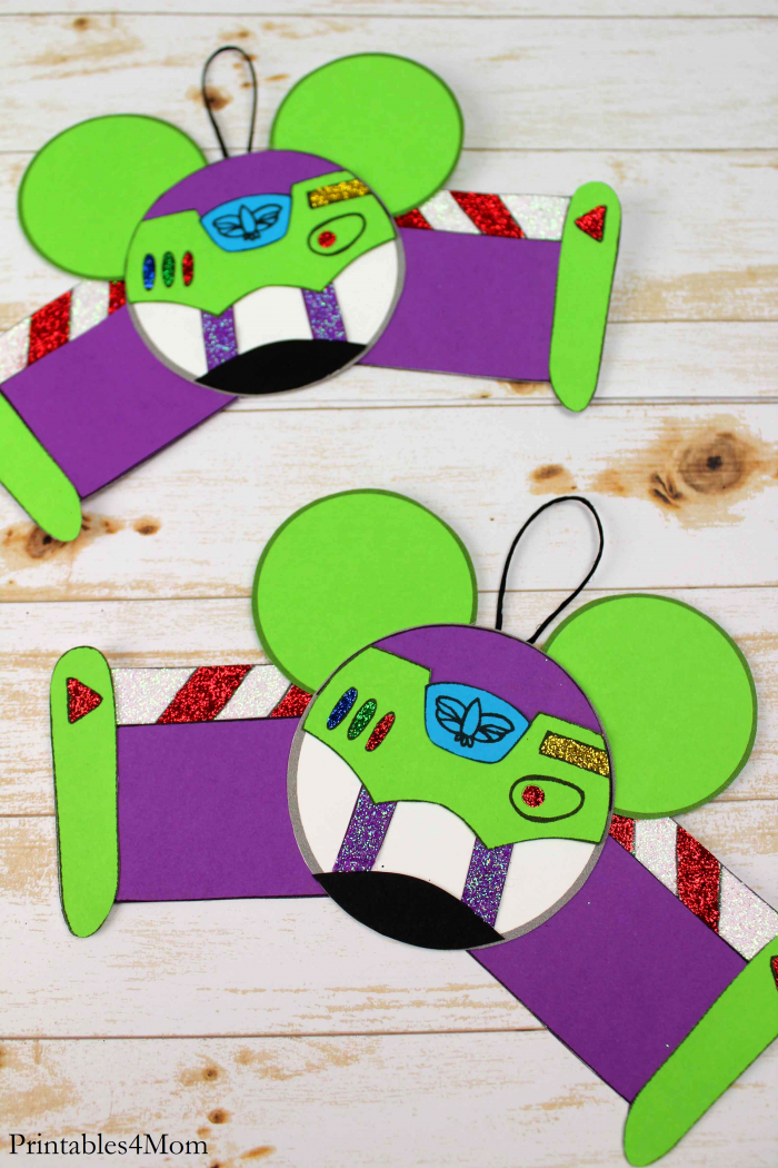 Buzz Toy Story Christmas Ornament Free Printable Craft
