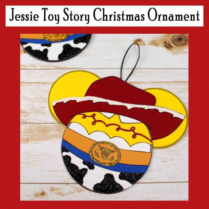 Jessie Toy Story Christmas Ornament Free DIY Printable Craft