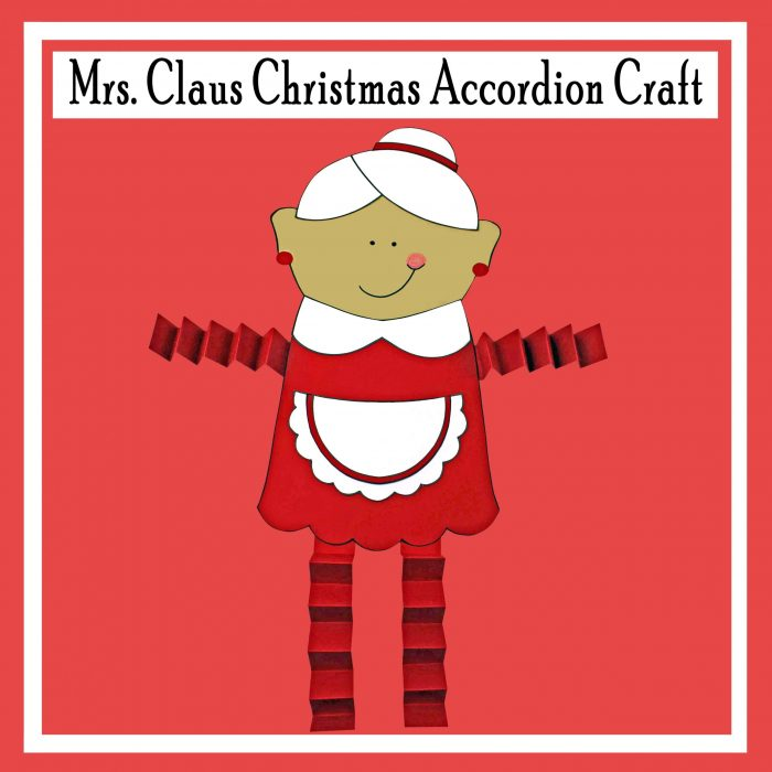 Mrs. Claus Christmas Accordion Craft Free Printable Craft