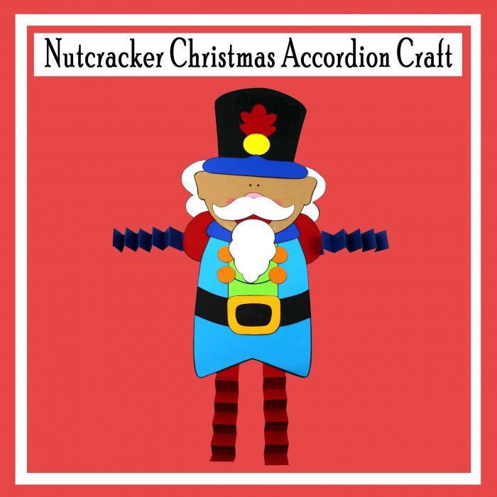 Nutcracker Christmas Accordion Craft