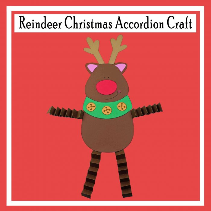 Reindeer Christmas Accordion Craft