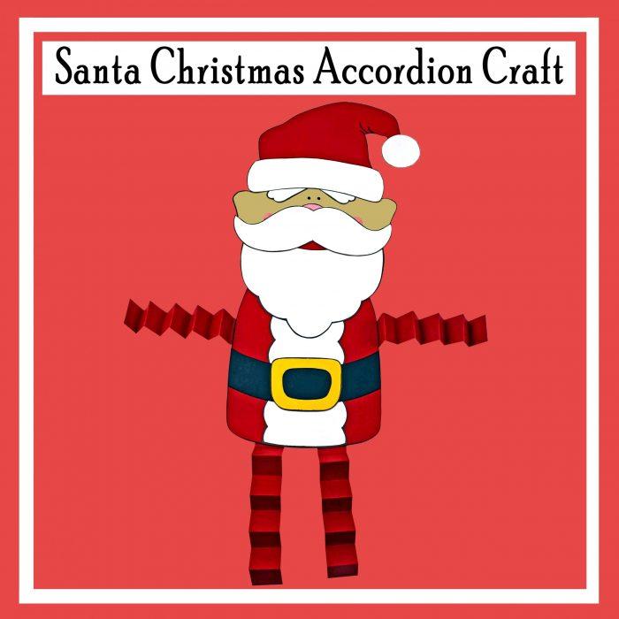 Santa Christmas Accordion Craft DIY Printable Craft