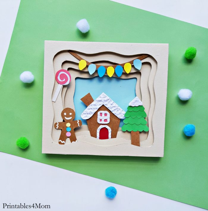 Gingerbread House 3D Papercraft Free Printable Christmas Craft