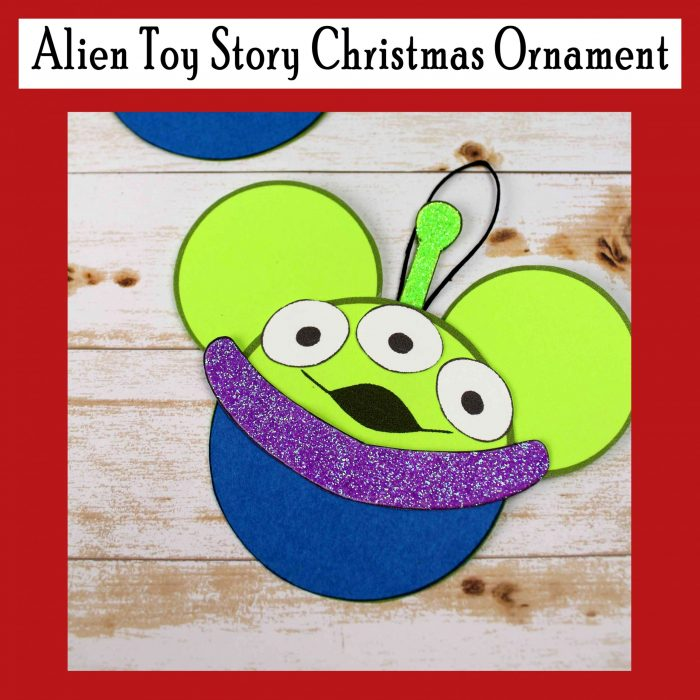 Alien Toy Story Christmas Ornament Free DIY Printable craft