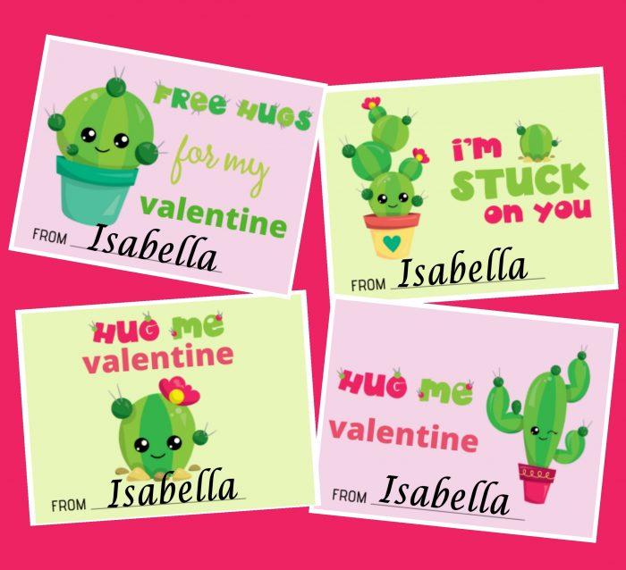 Cute Cactus Printable Valentines Free Printable