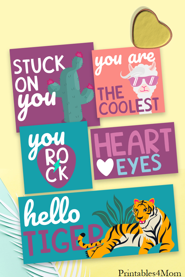 90s Valentine's Day Cards for kids DIY Free