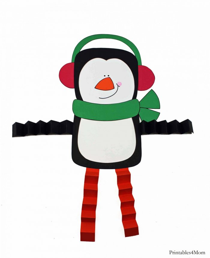 Penguin Accordion Printable Craft