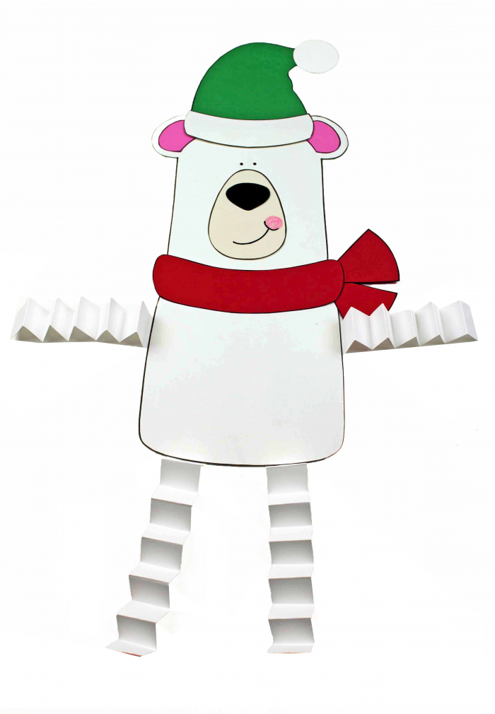 Polar Bear Accordion Craft Free Printables