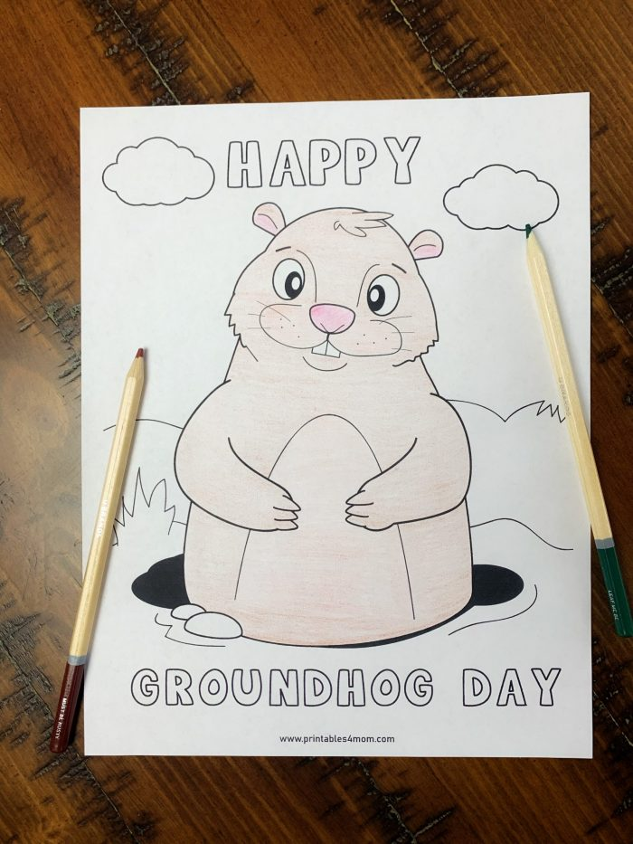 Printable Groundhog's Day Activity Pages