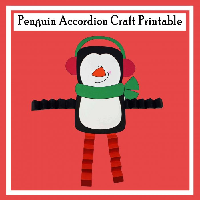 Penguin Accordion Printable Craft Free DIY