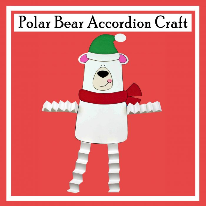 Polar Bear Accordion Craft Free Printable DIY craft