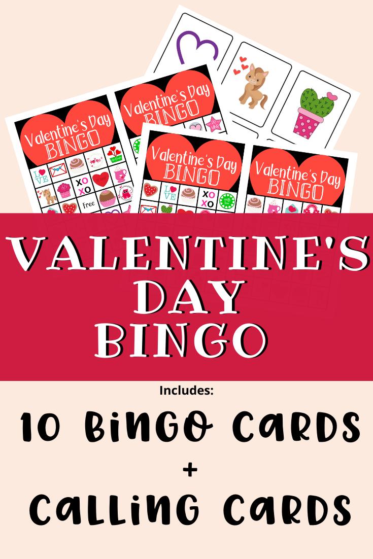 Valentine's Day Printable Bingo Game Free Printable