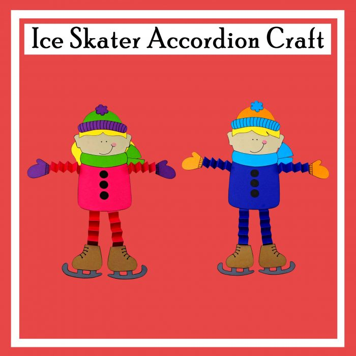 Ice Skater Accordion Craft Free DIY Printable