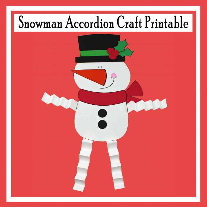Snowman Accordion Character Printable Free Craft