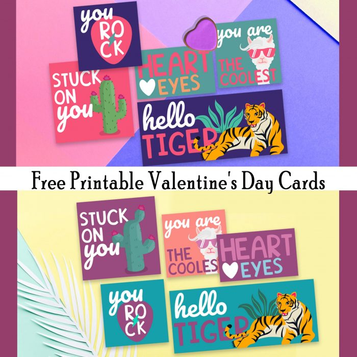 90s Valentine's Day Cards Free Printables