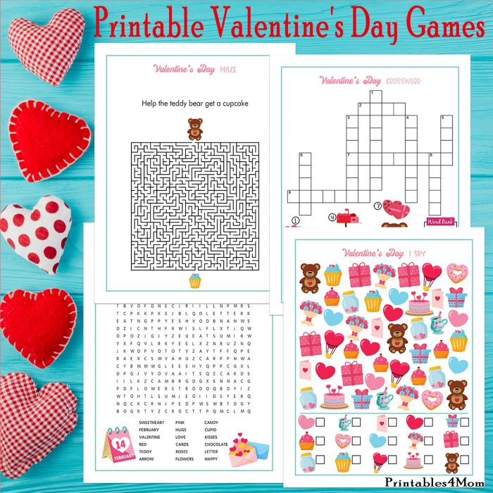 Valentine's Day Printable Activity Games Free Printables