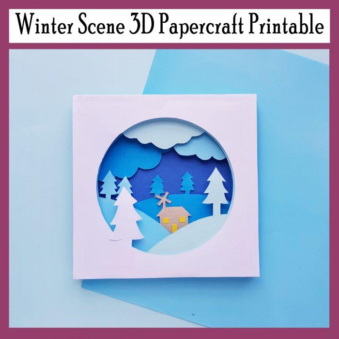 Winter 3D Art Craft Printable DIY Papercraft