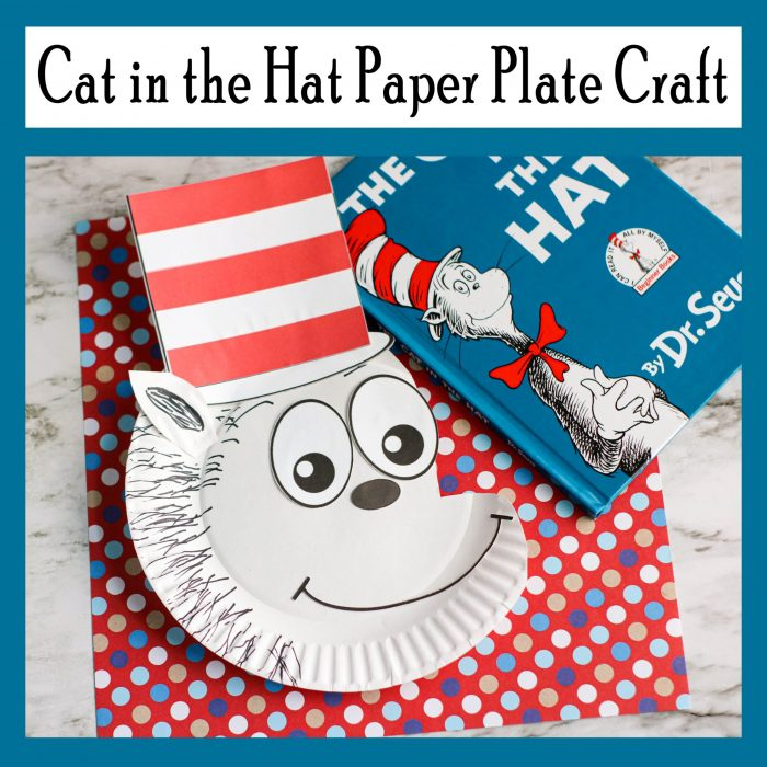 Cat in the Hat Paper Plate Craft Free Printable